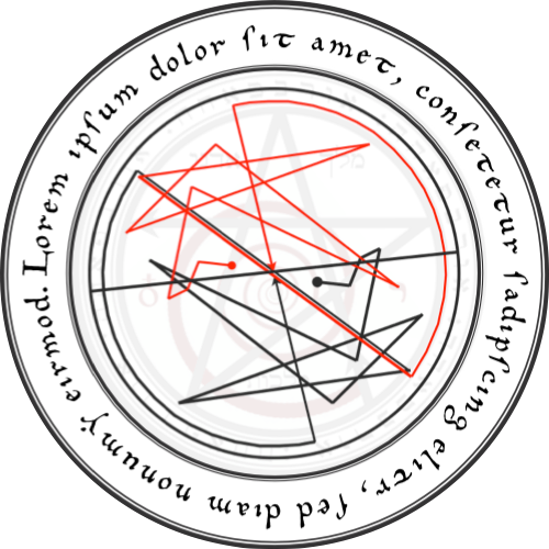 my occult circle high voltage for your talismans