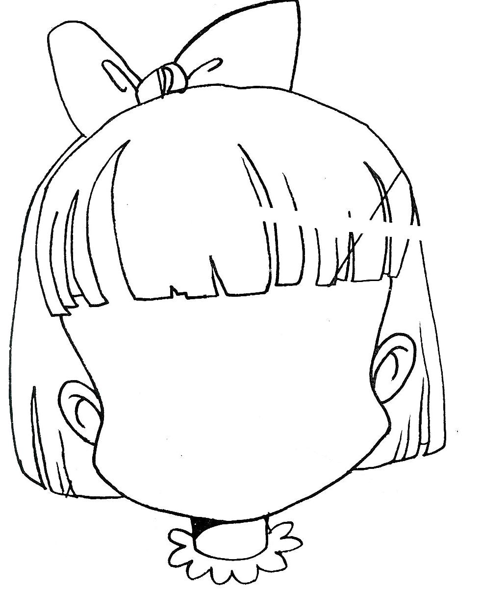 Cara de enojado para colorear - Imagui