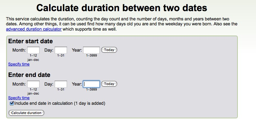 Online date of birth calculator