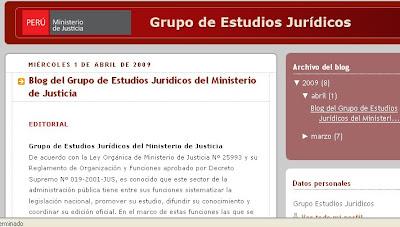 Blogit blog del grupo de estudios jur dicos for Pagina del ministerio de interior y justicia