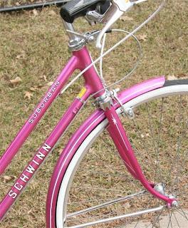 Pink Schwinn Suburban bike