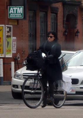dressing warmly on a bike