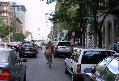 Boston cyclist