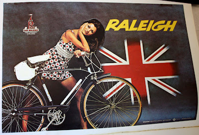 Raleigh 70s bike poster