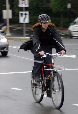 rain gear cyclist
