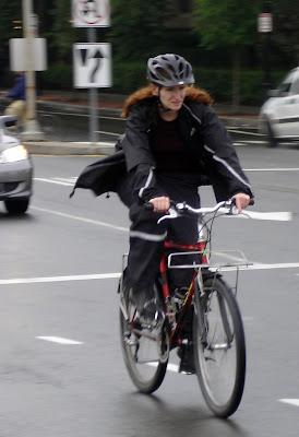 rain gear cyclist