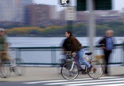 grey cyclist