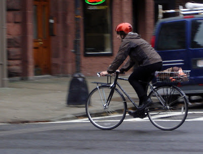 orange helmet bike bicycle
