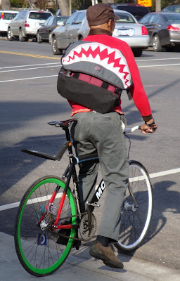 singlespeed shark bag messenger bike bicycle
