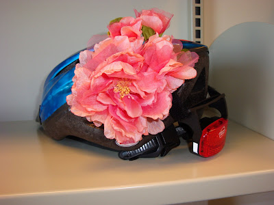 bike helmet decorated with a flower