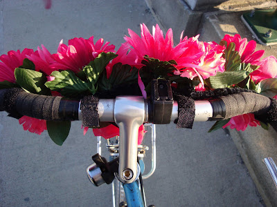 velcro flowers bike