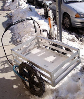 DIY homemade bike bicycle cargo utility