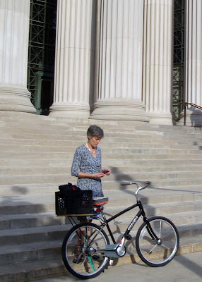 mature lady on a bike at MIT
