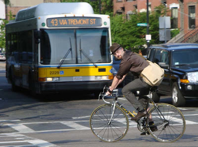 bicycle Boston bus