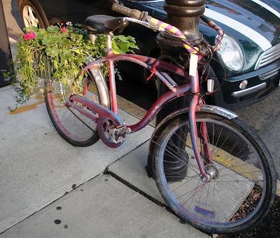bike flowers garden