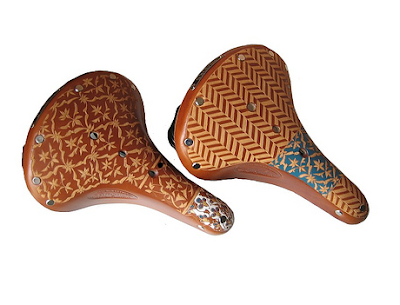 custom carved Brooks saddles