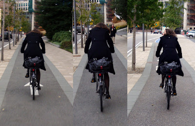 classy cyclist in Cambridge