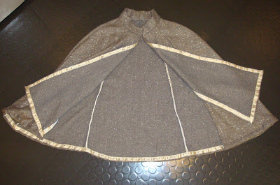 seam binding on cape