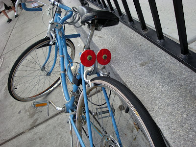 googly eyes on a bike