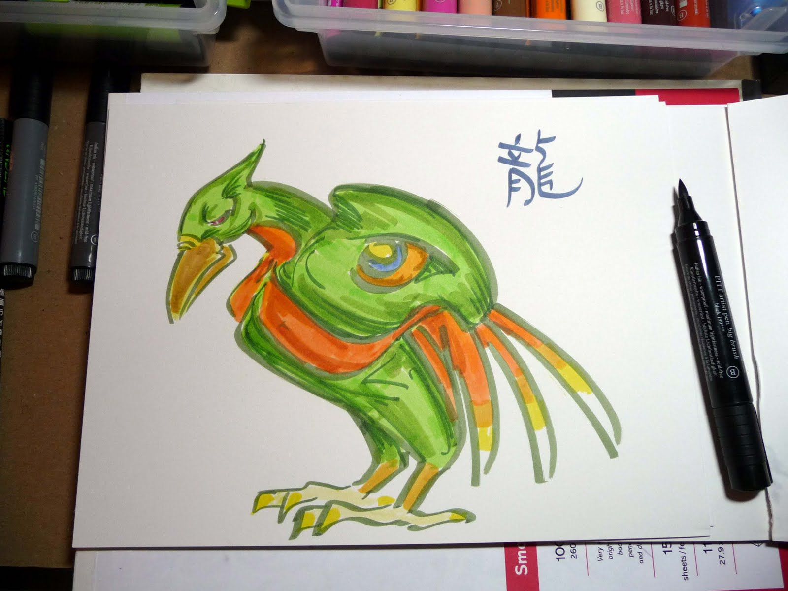 bit of color sketching with faber castell big brush pitt artist pens