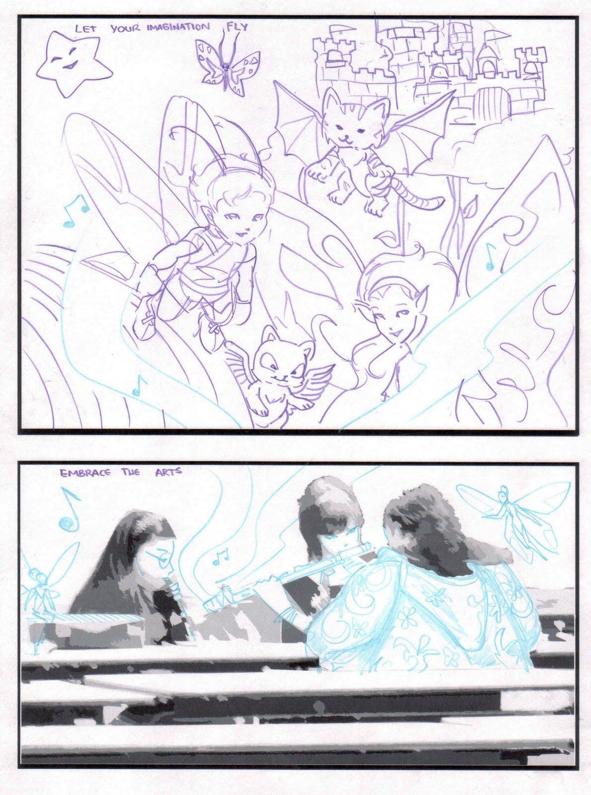 kid sketches  manga comic jam project