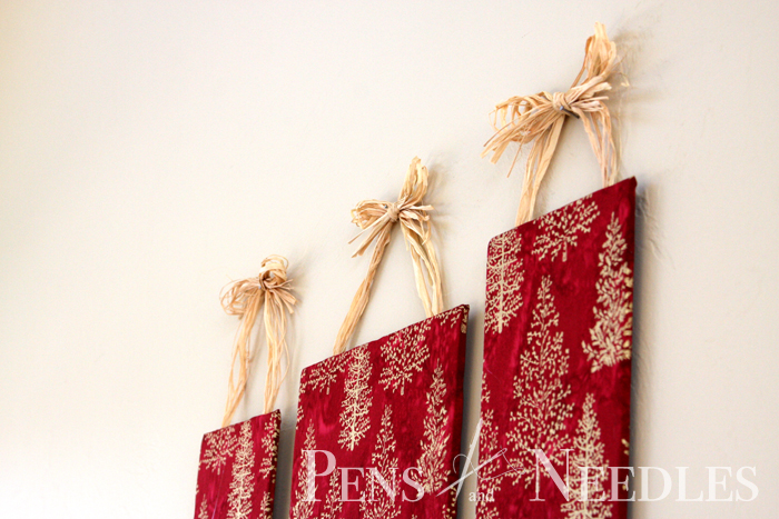 Wall Decor Christmas Diy : Pens and needles diy christmas wall art