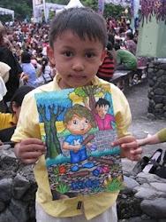 hasil karya gambar anak sanggar Trimanik