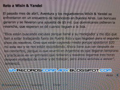 Reto a Wisin y Yandel