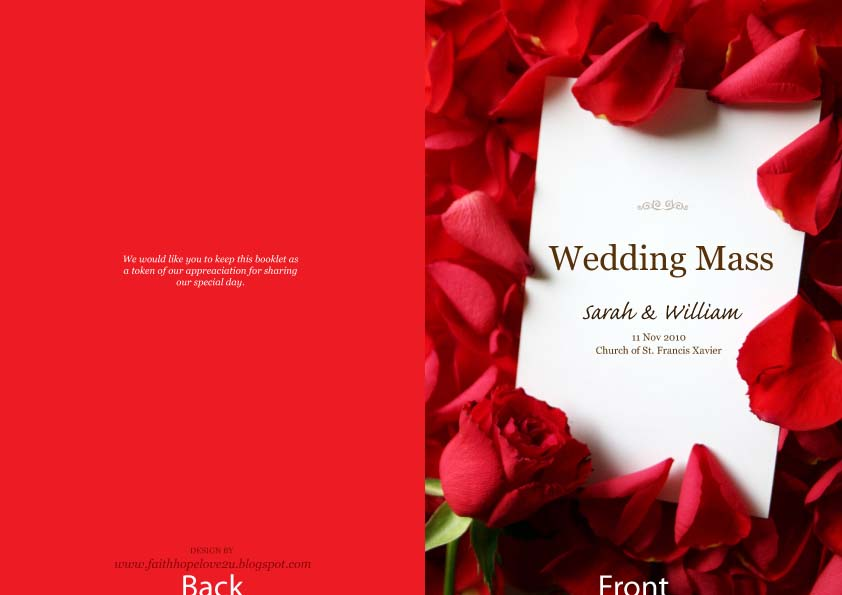 Wedding Booklet Cover