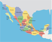 Mapa orográfico. mapa mexico mapa orogrã¡fico