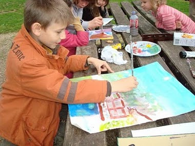Petit peintre débutant