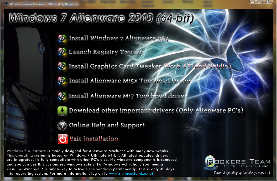 windows 7 alienware 2010 product key free download
