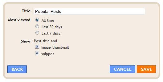 Membuat Popular Post di Blogger