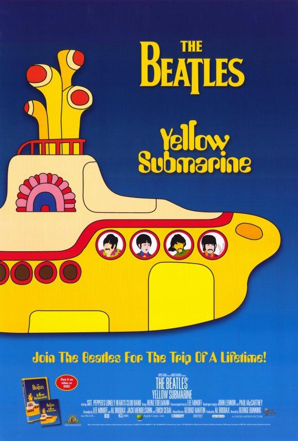 the beatles желтая подводная лодка мультфильм 1968