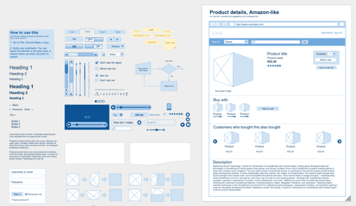 Wireframe Symbols PSD Web Element and User Interface Design