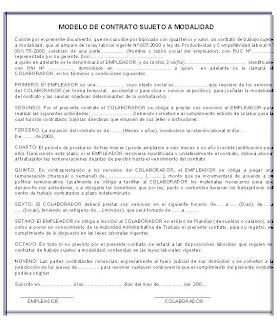 Lissette bravo modelos de contratos for Modelo de contrato de servicio domestico