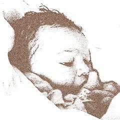 O Xani 40 minutos depois de ter nascido