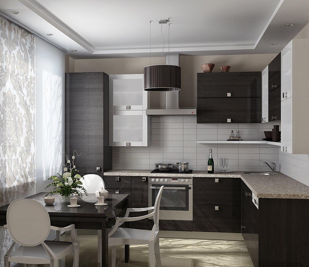 Interior design from hot ice кухня