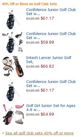 CYBER MONDAY Deals in Sport & Outdoor (Golf Club Set) 2010