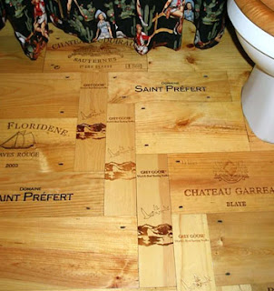 Brown Paper Bag Floor Covering http://theredchairblog.blogspot.com/2009/02/three-unconventional-floor-coverings.html