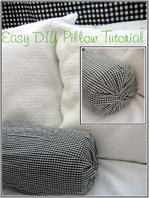 Easy Sew Bolster Pillow: The Red Chair Blog  Easy DIY No Sew Pillow Tutorial,