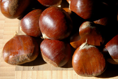 Fresh chestnuts - difficult but beautiful and tasty