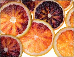 Photo of blood oranges taken by Perry Small