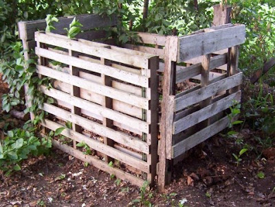 compost bin made of old pallets, courtesy of google images