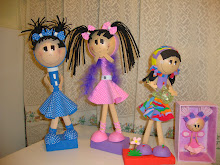 Bonecas 3D aniver da Isa