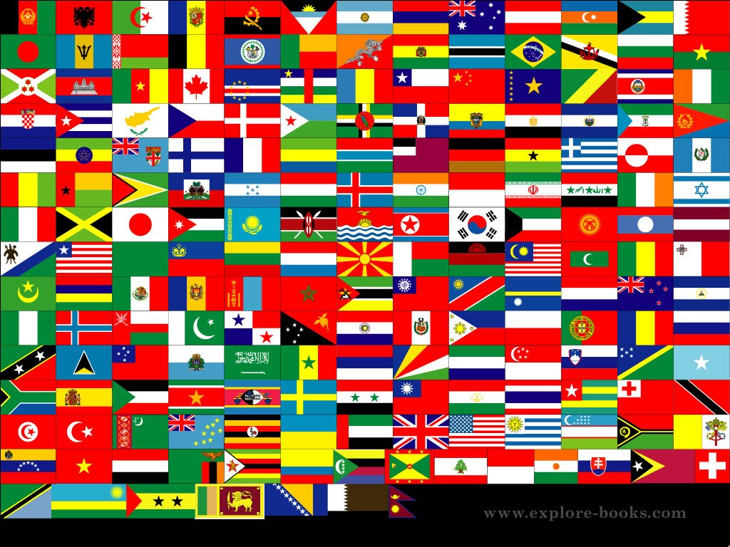 Visible colors when looking at the flags of the world