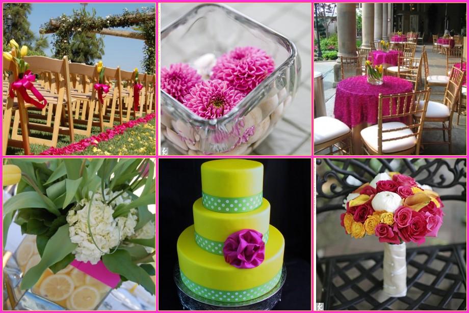 Matrimonio Tema Fucsia : Riviera brides