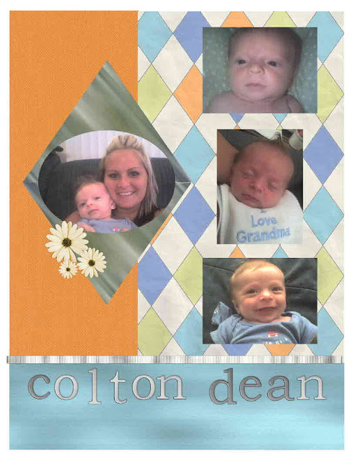 baby Colton's scrapbook page