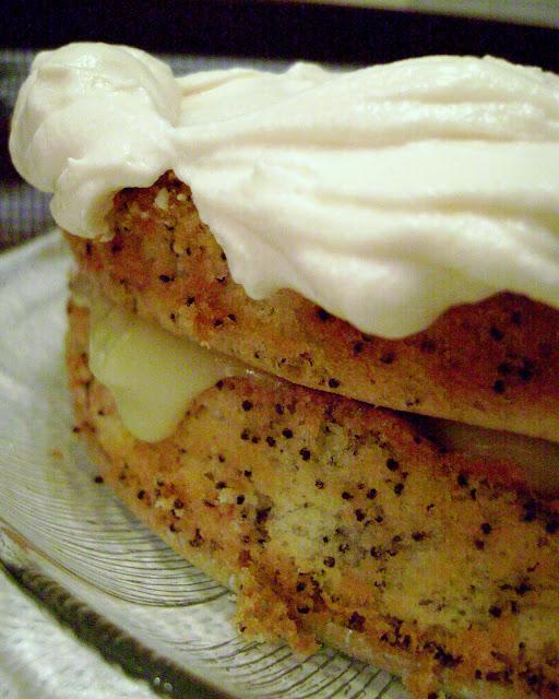 Poppy Seed Cake Custard Filling