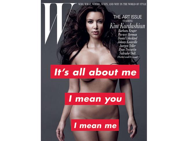 magazine Kim kardashian cover w